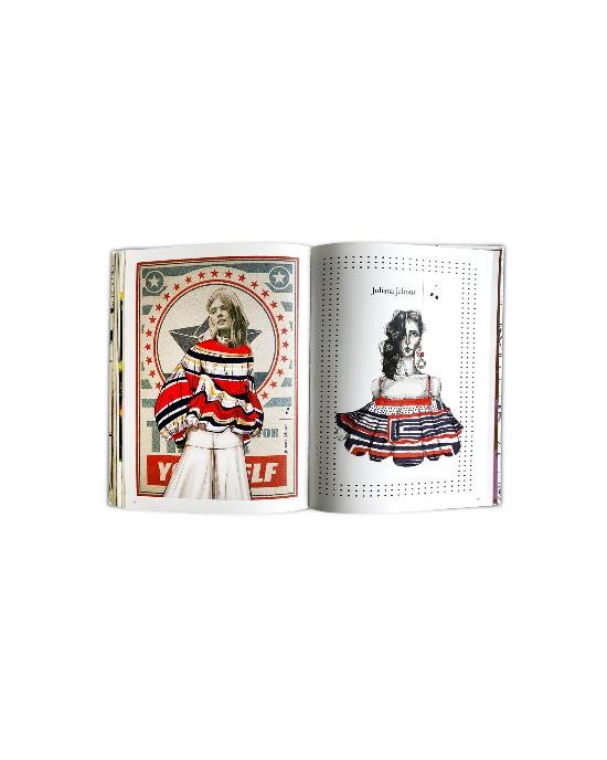 Livro Moda Ilustrada - Pinturas, Croquis, Estampas e Desenhos que contam a evolução do vestuário no Brasil